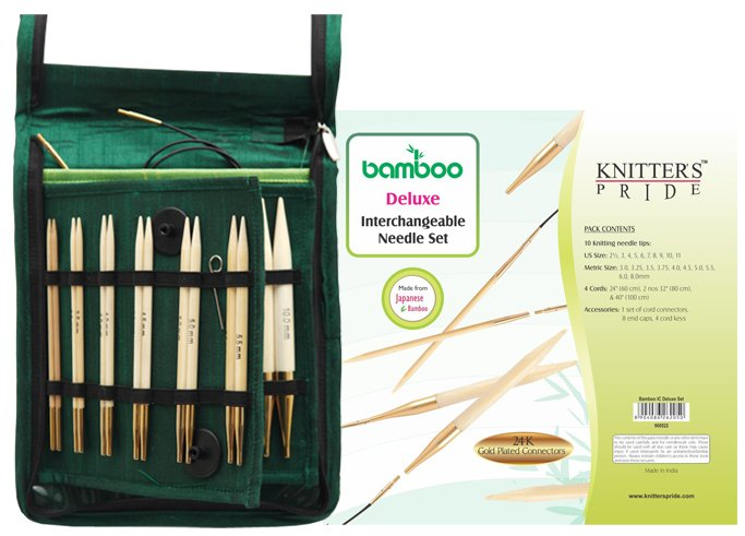 Knitter's Pride Bamboo Interchangeable Deluxe Knitting Needle Set