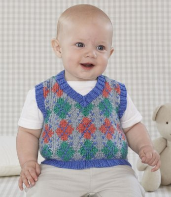 Sublime Book 696 - Design 14 - Argyle Vest
