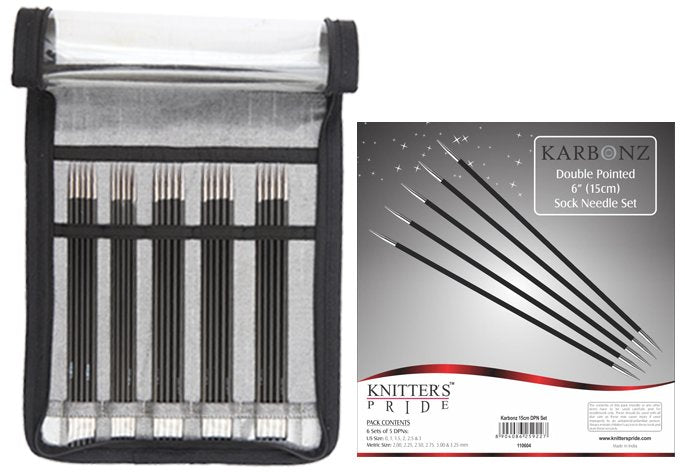 Knitter's Pride Karbonz Double Pointed Sock Needle Set