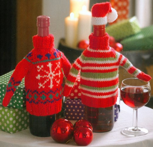 Christmas Knits Book 1 - Sweaters and Hats for Wine Bottles