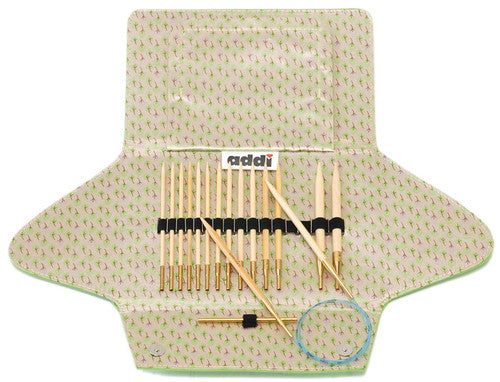Addi Click Bamboo Interchangeable Circular Knitting Needle Set