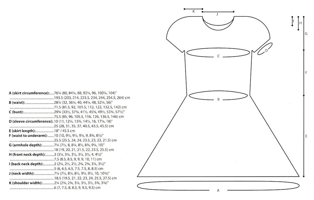 Argonic Dress by Pamela Wynne for Juniper Moon Farm - Schematic