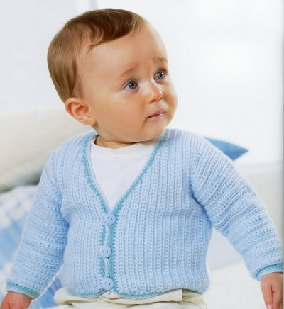 Sirdar Book 411 - The Baby Crochet Book - Design 1295 - Cardie