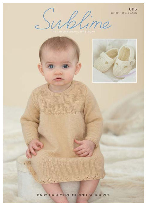 Sublime Baby Cashmere Merino Silk 4 Ply Leaflet 6115