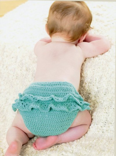 Sirdar Book 411 - The Baby Crochet Book - Design 1297 - Panties