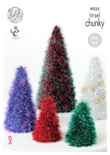 Tinsel Chunky Pattern Leaflet 9035 - Christmas Trees
