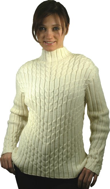 Wool-Tyme Diagonal Cable Sweater Pattern 110121