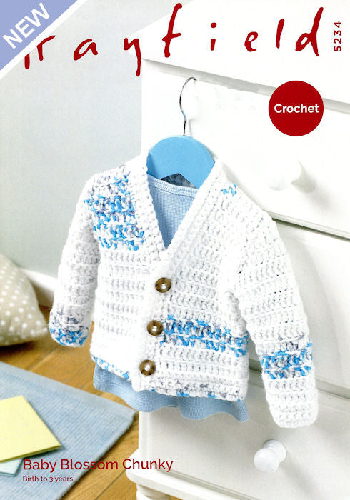 Hayfield Baby Blossom Chunky Leaflet 5234 - Cardigan