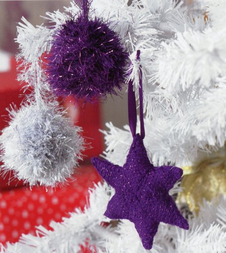 Christmas Knits 2 - Star and Tinsel Bauble Tree Ornaments