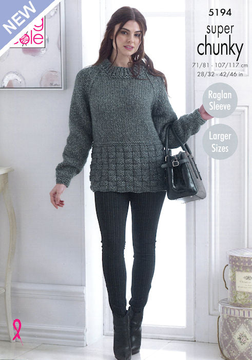 King Cole Big Value Super Chunky Stormy Leaflet 5194 - Sweater