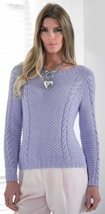 Bamboo Cotton DK Leaflet 4173 - Pullover