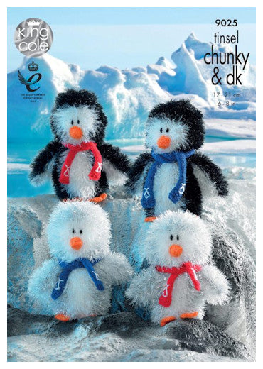 Tinsel Chunky Pattern Leaflet 9025 - Penguin Family