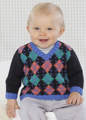 Sublime Book 696 - Design 15 - Argyle Long-Sleeved Pullover