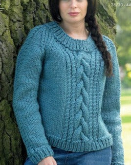 Big Value Super Chunky Leaflet 4360 - Round Neck Sweater