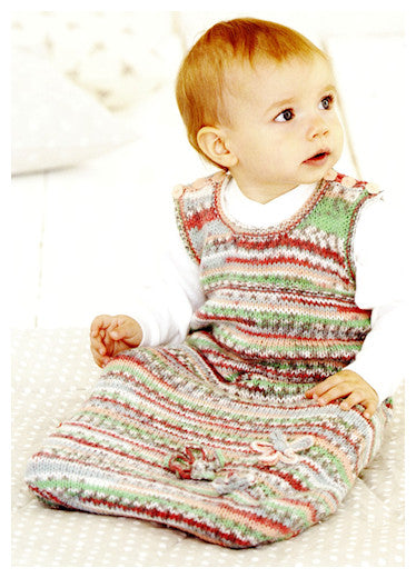 Sirdar Book 510 - Baby Crofter Creations - Design 4755 - Sleeveless Sleep Sack