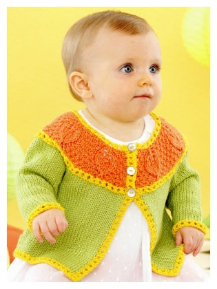 Sirdar Book 495 - Playful Little Tots - Design 4624 Cardigan in 3 Colours
