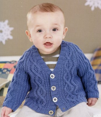 Sirdar Book 467 - A Winter's Tale - Design 4469 - Cabled, V-Neck Cardigan