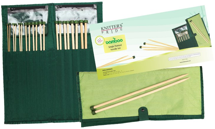 Knitter's Pride Bamboo Single Pointed Knitting Needle Set