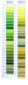 DMC Embroidery Floss Chart - Columns 11 & 12 - small