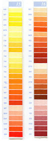 DMC Embroidery Floss Chart - Columns 15 & 16 - small