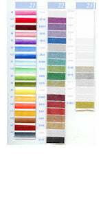 DMC Embroidery Floss Chart - Columns 21, 22, & 23 - small