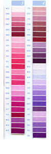 DMC Embroidery Floss Chart - Columns 3 & 4 - small