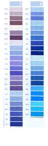 DMC Embroidery Floss Chart - Columns 5 & 6 - small