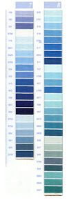 DMC Embroidery Floss Chart - Columns 7 & 8 - small