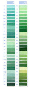 DMC Embroidery Floss Chart - Columns 9 & 10 - small