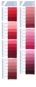 DMC Tapestry Wool Colour Chart - Columns 1 & 2 (small image)