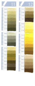 DMC Tapestry Wool Chart - Columns 11 & 12 (small image)