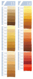 DMC Tapestry Wool Chart - Columns 13 & 14 (small image)