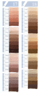 DMC Tapestry Wool Chart - Columns 17 & 18 (small image)