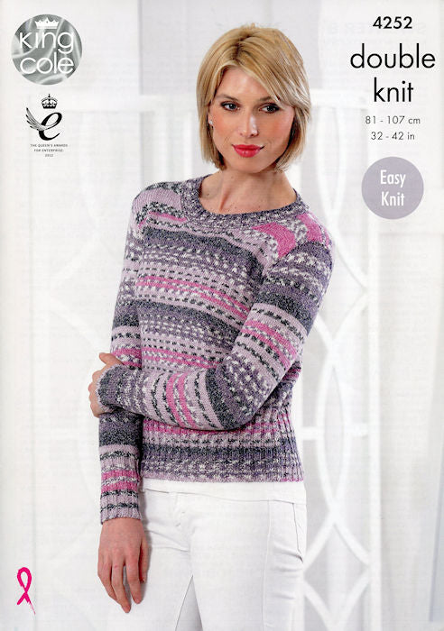 King Cole Drifter DK Leaflet 4252 - Long-Sleeved Pullover