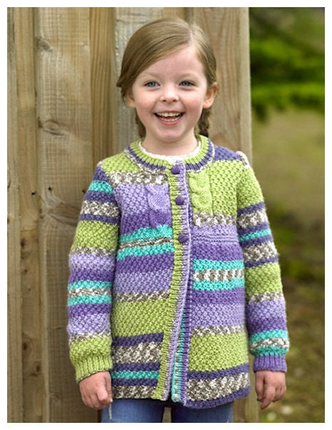 Pattern Leaflet JB488 for Fairground DK - Cardigan