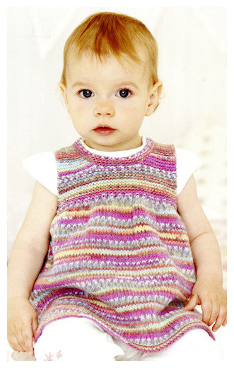 Sirdar Book 510 - Baby Crofter Creations - Design 4754 - Sleeveless  Dress front