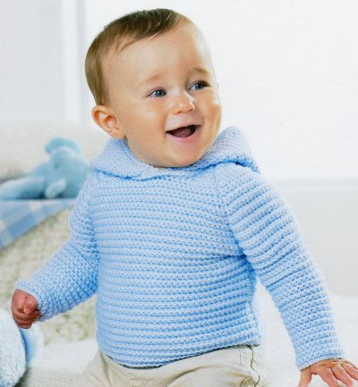 Sirdar Book 411 - The Baby Crochet Book - Design 1296 - Plain Hoodie