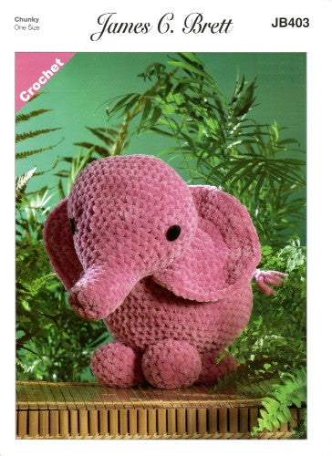 Flutterby Pattern Leaflet JB403 - Ellie the Elephant
