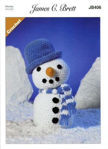 Flutterby Pattern Leaflet JB406 - Frosty the Snowman