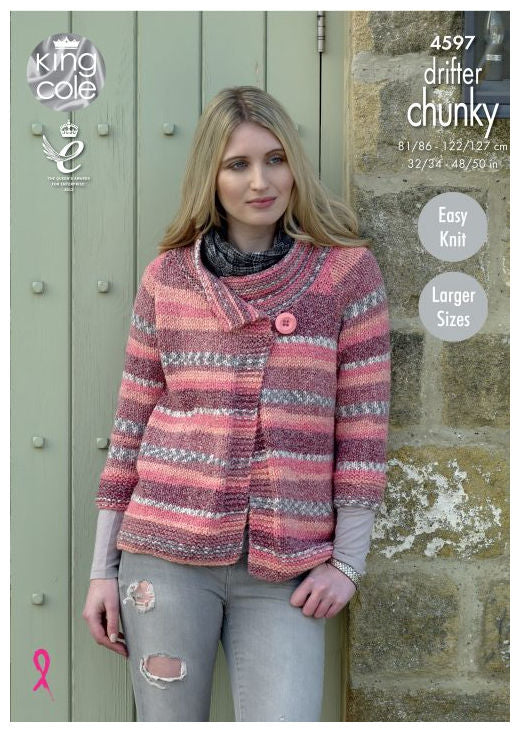 Drifter Chunky Leaflet 4597 - Jacket with 3/4 Sleeves