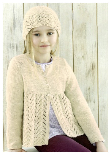 Sirdar Book 507 Snuggly Delights - Design 4709 - Lace & Cable Cardigan with Hat