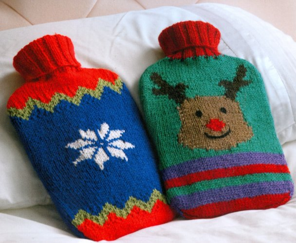 Christmas Knits Book 1 - Hot Water Bottle Covers