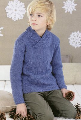 Sirdar Book 467 - A Winter's Tale - Design 4468 - Wrap Neck Pullover