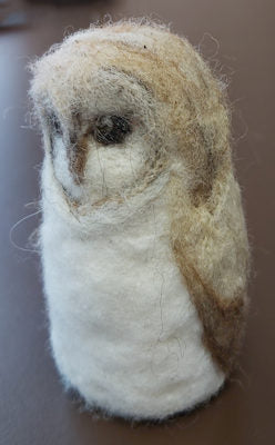 Felted Owl - one of the project options for Needle Felting II