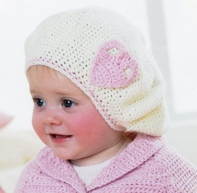 Sirdar Book 411 - The Baby Crochet Book - Design 1300 - Beret