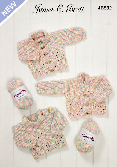 James C. Brett Flutterby Chunky Leaflet JB582 - Sweater and Cardigans