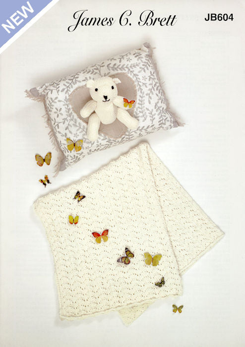 James C. Brett Flutterby Quick Knit Leaflet JB604