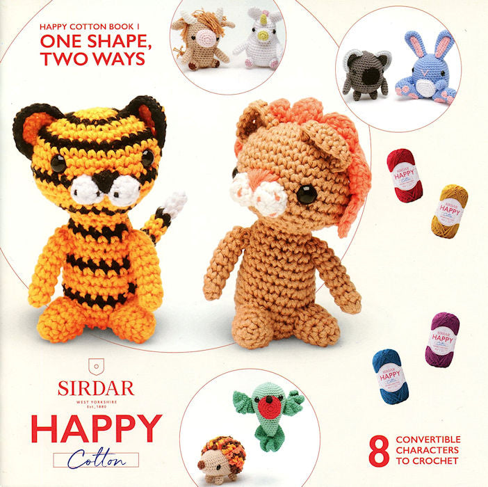Sirdar Happy Cotton Book 1 -- One Shape, Two Ways