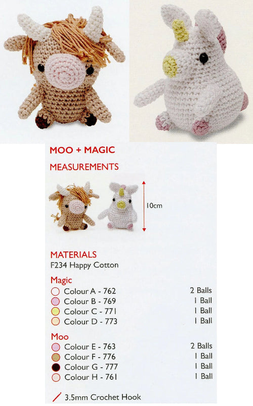 Sirdar Happy Cotton Book 1 - Moo & Magic