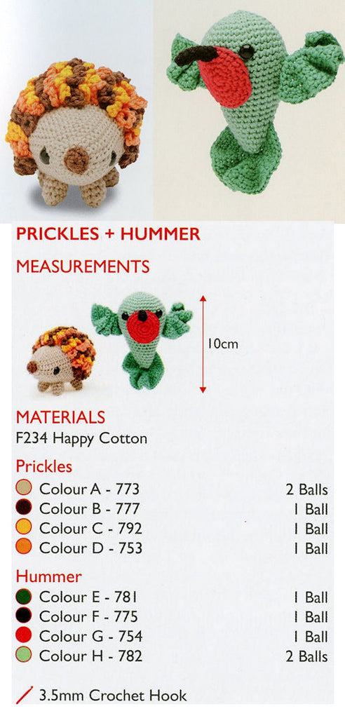 Sirdar Happy Cotton Book 1 - Prickles & Hummer